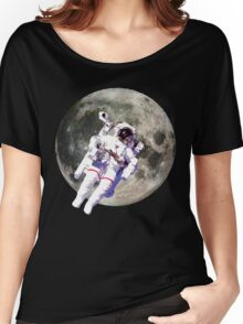 Floating Astronaut with Moon Women's Relaxed Fit T-Shirt