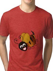 Bee In Black Tri-blend T-Shirt