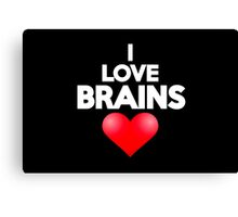 I love brains Canvas Print