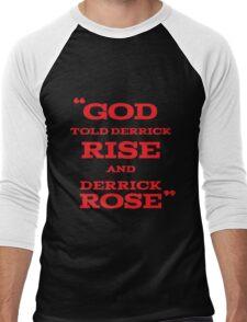 Derrick Rose - God Told Derrick To Rise  Men's Baseball ¾ T-Shirt