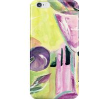 Glass and fruit in purple and green iPhone Case/Skin