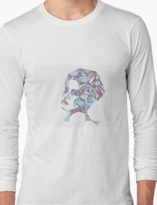 Beautiful Woman Abstract Portrait Long Sleeve T-Shirt