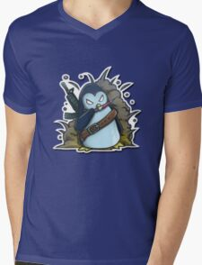 War Penguin Mens V-Neck T-Shirt