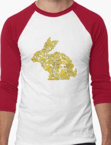 Rabbit Pattern Men's Baseball ¾ T-Shirt