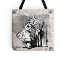 Alice and the Door  Tote Bag