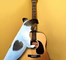 STRUMMING THE WAY MY HEART FEELS FOR U..CANINE STRUMMING GUITAR-JOURNAL- PICTURE AND OR CARD by ✿✿ Bonita ✿✿ ђєℓℓσ