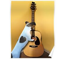 STRUMMING THE WAY MY HEART FEELS FOR U..CANINE STRUMMING GUITAR-JOURNAL- PICTURE AND OR CARD Poster