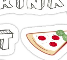 I drink tea, eat pizza and watch Youtubers - 01 Sticker