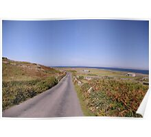 A quite road on the Aran Islands West of Ireland Poster