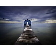 The Blue Boatshed Photographic Print