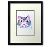 Caffeine Cat Framed Print