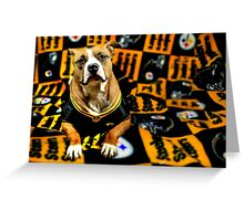 Steeler Pup Greeting Card