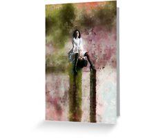 """mjranum - """"contemplation"""" Greeting Card"""