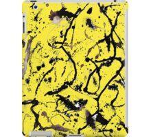 BLACK SPOTS YELLOW iPad Case/Skin