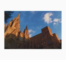 Warm Glow Cathedral - Impressions Of Barcelona Kids Tee