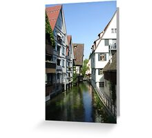 Ulm Little Fishermans Town Greeting Card