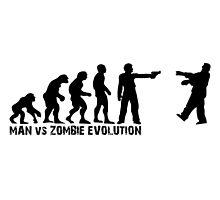Man vs Zombie Evolution by maniacreations