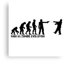 Man vs Zombie Evolution Canvas Print