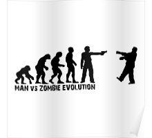 Man vs Zombie Evolution Poster