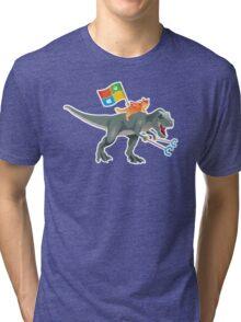 Ninjacat T-Rex Tri-blend T-Shirt