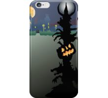 Spooky Halloween lamp in a surreal landscape. iPhone Case/Skin