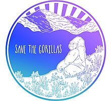 Save the Gorillas! Photographic Print