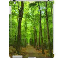 Green Light Harmony - Walking Through The Summer Forest iPad Case/Skin