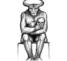 The Minotaur & The Skull by anotherwhere