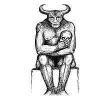 The Minotaur & The Skull Photographic Print