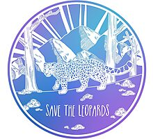 Save the Leopards! Photographic Print