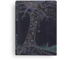 Journal Entry: Porfolio Cover Art (the beginning of a learning journey) Canvas Print