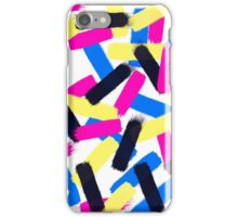 Modern bright abstract brushstrokes paint pattern iPhone Case/Skin
