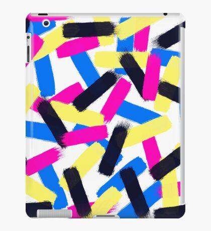 Modern bright abstract brushstrokes paint pattern iPad Case/Skin