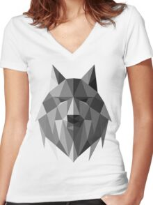 Wolf of The North Women's Fitted V-Neck T-Shirt