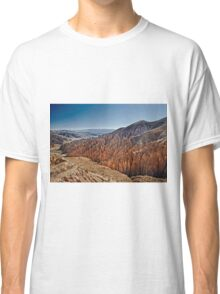 Red rock formations in the Canon Del Inca Classic T-Shirt