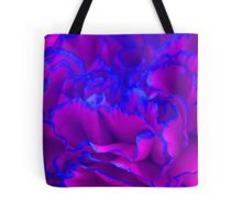 Bold Fuschia Pink and Blue Carnation Flower Tote Bag