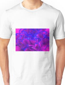 Bold Fuschia Pink and Blue Carnation Flower Unisex T-Shirt