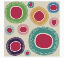 Happy Circle Pattern Kids Clothes