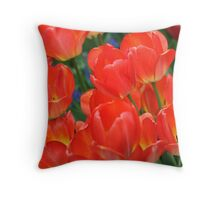 Chicago in Spring - Tulips  Throw Pillow