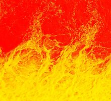 Colourful red and yellow fire water by steveball