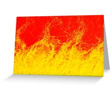 Colourful red and yellow fire water Greeting Card