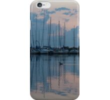 Pink and Blue Peace - Still Sailboat Reflections  iPhone Case/Skin