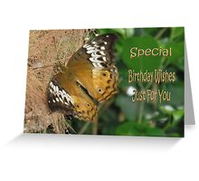 Golden Butterfly-Birthday Card Greeting Card