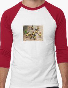 Group of duck wearing cowboy hats 1 Men's Baseball ¾ T-Shirt
