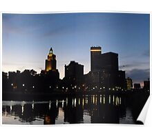 Providence Skyline at Night Poster