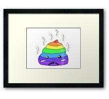 Cute rainbow poop Framed Print