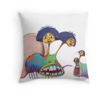 M Blackwell - Faceworms... Throw Pillow
