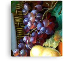 Grapes only Canvas Print
