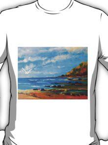 Southern end of Pippi's Beach Yamba NSW Australia T-Shirt