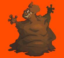 Ominous poop monster Kids Clothes